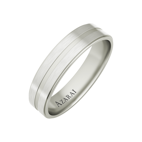 Hector sterling silver wedding band