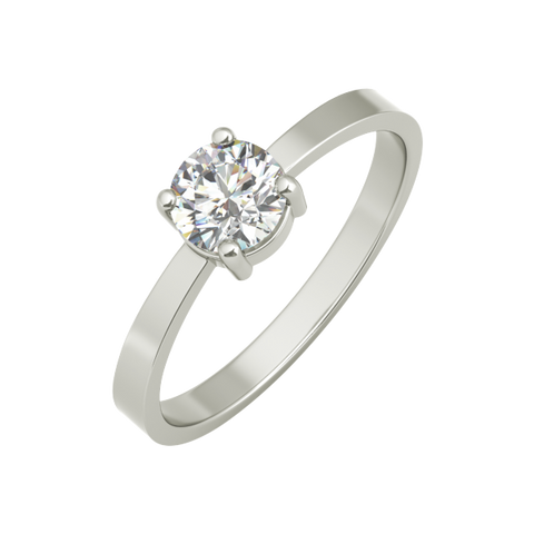 Monica sterling silver engagement ring - EJ Cole