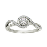 Ivy sterling silver engagement ring - Azarai - 2