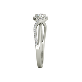 Ivy sterling silver engagement ring - Azarai - 4