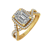 Arabella 9kt gold engagement ring - Azarai - 1