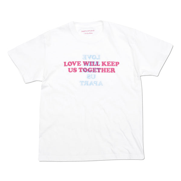 White 'Love Will...' t-shirt