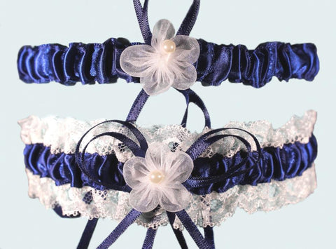 Luxury Royal Blue Lace Garter