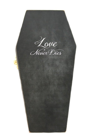 """Love never dies"" Gothic Wedding Ring Casket"