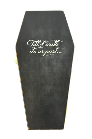 """Till death do us part"" Gothic Wedding Ring Casket"