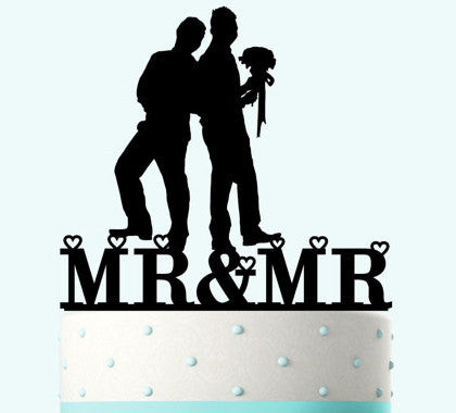"""LGBT+"" Wedding - Mr & Mr Cake Topper"