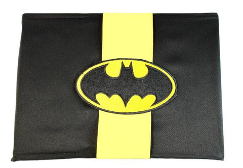 """Bat"" Superhero Theme Wedding Guest Book with Patch"