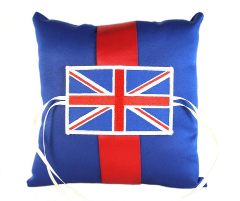 """Great Britain"" Wedding Ring Pillow"