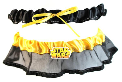"""Space Wars"" Wedding Garter"