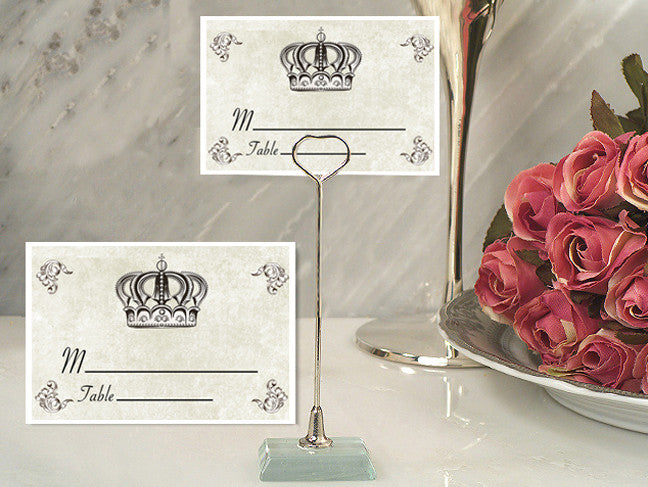 Place Name Card Holder with Crown Design Card