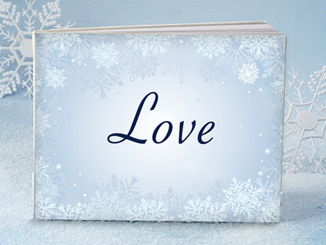 """Winter love"" Wedding Guest Book"