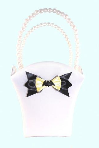 """Bat"" Superhero Theme Wedding Satin Flower Basket with Bow"