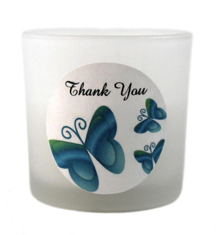 Blue / Green Wedding Candle Favours