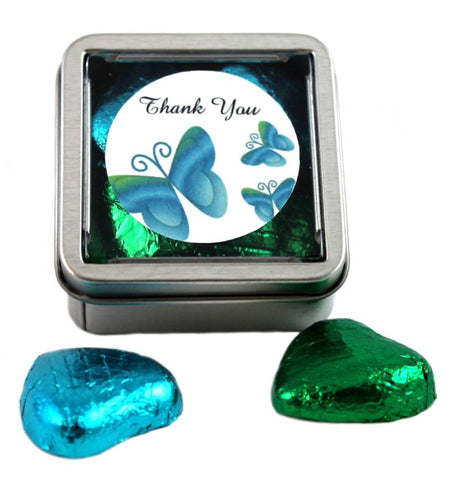 Blue / Green Wedding Sweet Favour Tins
