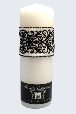 Damask Wedding Unity Candle