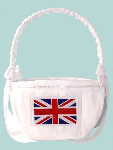 Great Britain Wedding Oval Satin Flower Basket