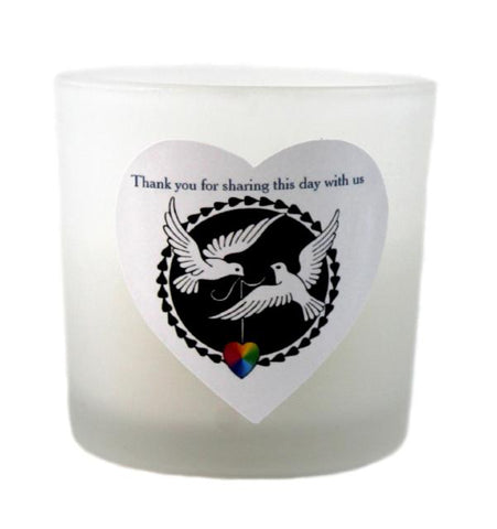 """Doves of Love"" LGBT+ Candle Favours"