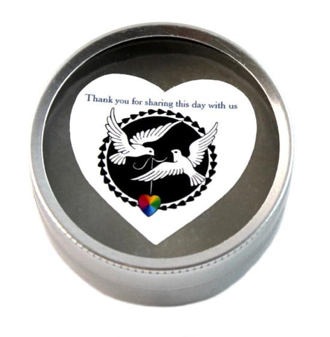 """Doves of Love"" LGBT+ Travel Candle"