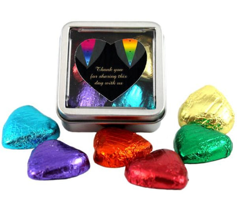 """Tuxedo"" Gay Wedding Sweet Favour Tins"