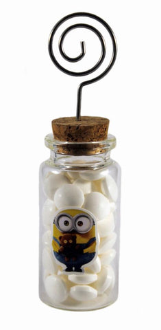"""Movie Character"" Wedding - 25 Glass Jar with Place Card Holders"