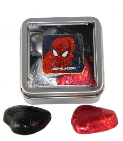 """Spider"" Superhero Wedding - 15 Sweet Favour Tins"