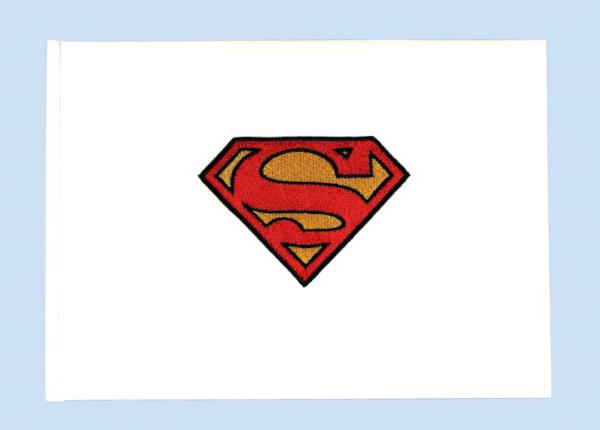 """Man of Steel"" Superhero Wedding Guest Book"