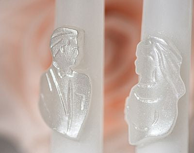 Bride and Groom Wedding Candle Tapers
