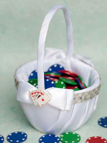 """Taking a Gamble"" Casino Wedding Flower Girl Basket"