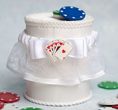"""Taking a Gamble"" Casino Wedding Garter"