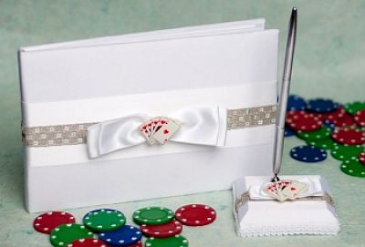 """Taking a Gamble"" Casino Wedding Guest Book"