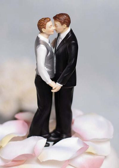 """Romance"" Gay Wedding Cake Topper Figurine"