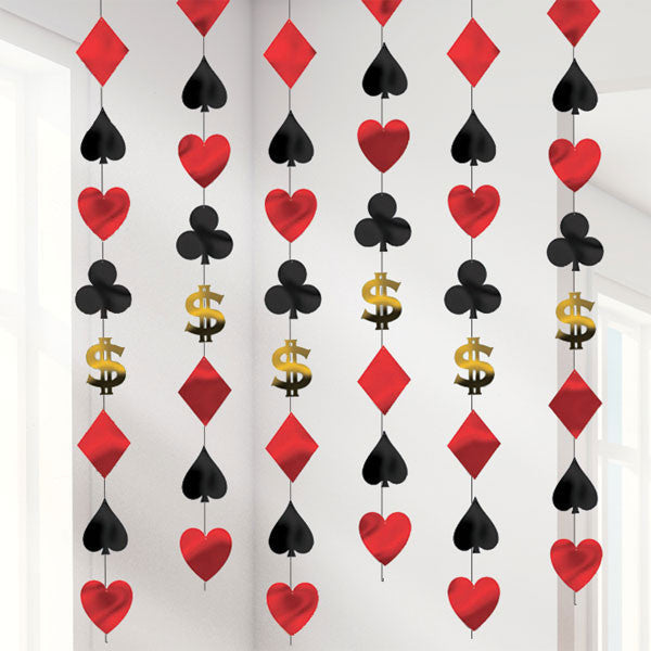 Casino Hanging String Decoration - 6 strings