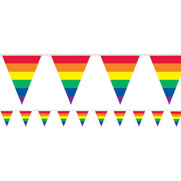 Rainbow Stripes Plastic Bunting