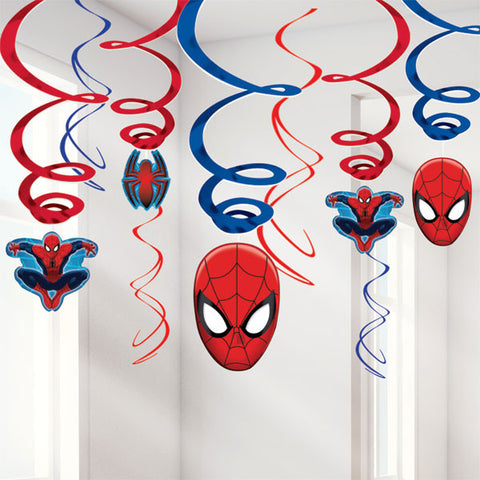 Spiderman Hanging Swirls - pack of 12