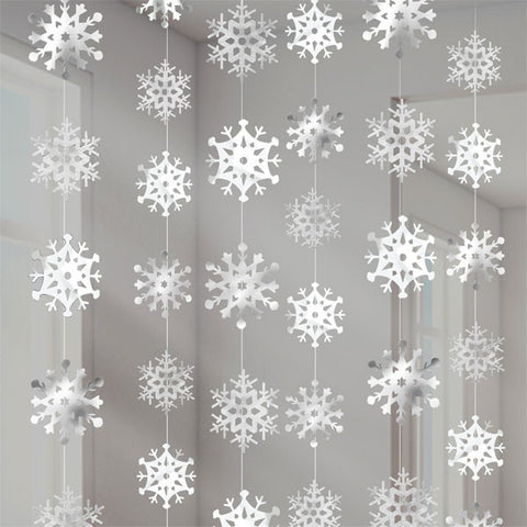 """Snowflake"" Winter Hanging Strings Decoration"