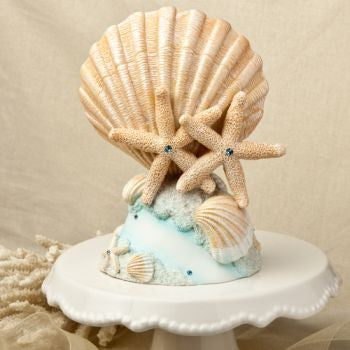 """Life's a Beach"" Wedding Cake Topper"