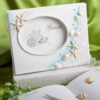 """Finishing Touches"" Collection Beach Themed Wedding Guest Book"