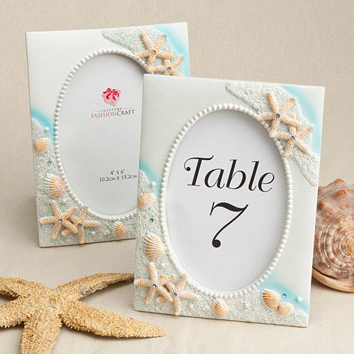 Beach Wedding Sea Themed Picture Frame / Table Number Holder