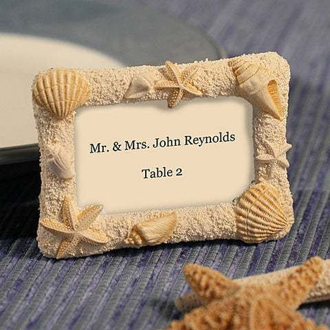 Beach Wedding Photo Frames / Place Name Holders