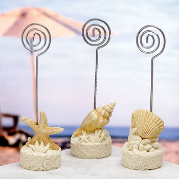 Beach Wedding Place Name Card Holders