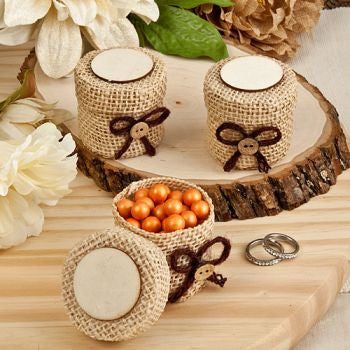 Burlap Wedding Favour Boxes