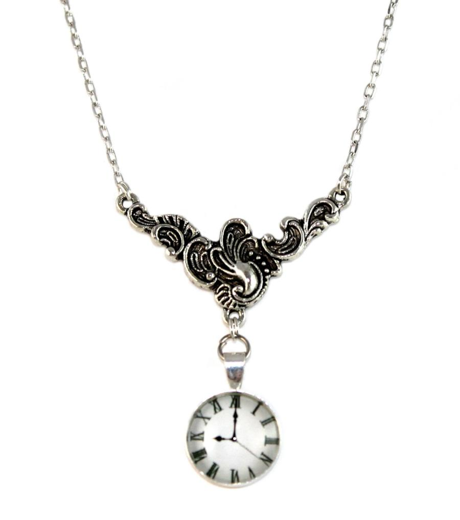 Steampunk Clock Necklace