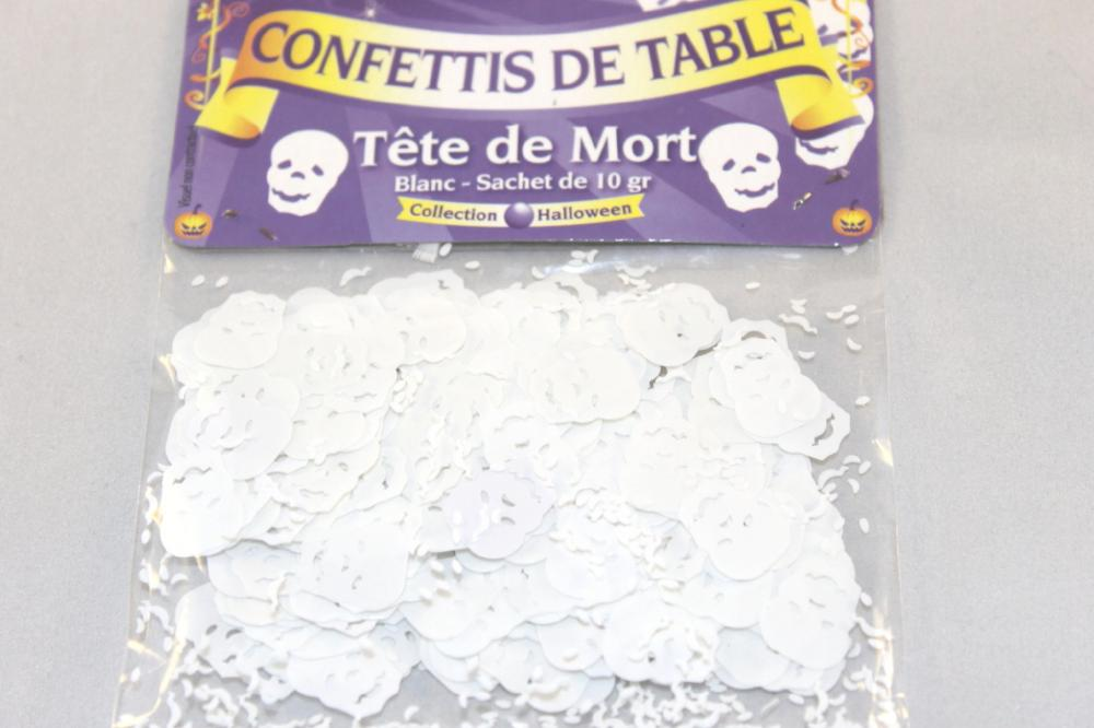 Death table confetti