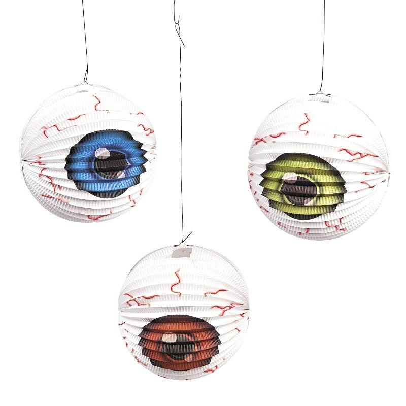 Eyeball Hanging Lanterns - pack of 6