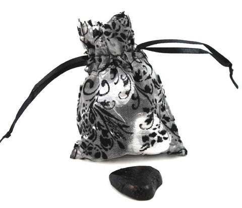 Damask Wedding Organza Favour Bags - pack of 12