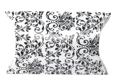 Damask Wedding Pillow Favour Boxes - pack of 12