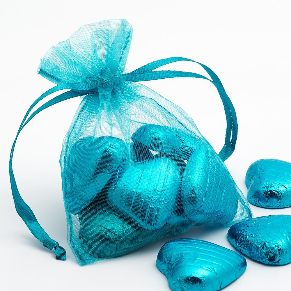 Organza Favour Bags - pack of 10 Turquoise