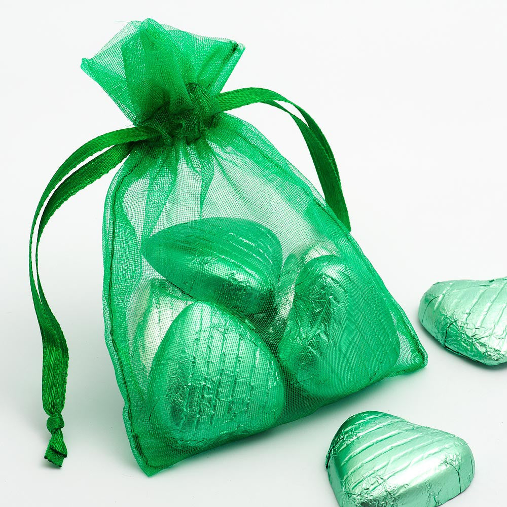 Organza Favour Bags - pack of 10 Green