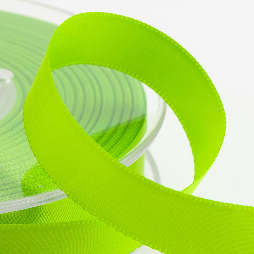 Satin ribbon - 3mm x 10m Lime