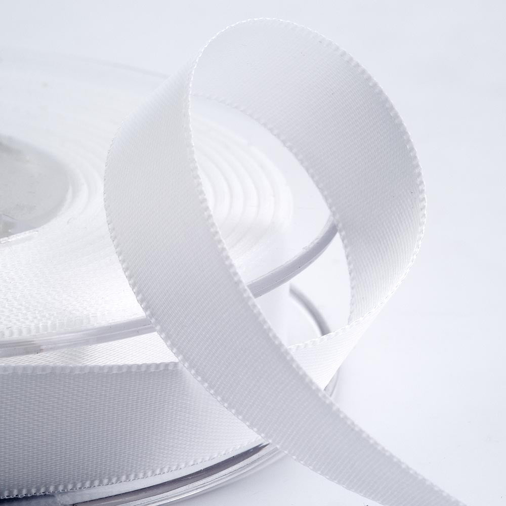 Satin ribbon - 3mm x 10m White